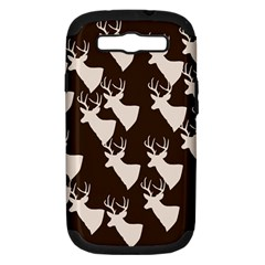Brown Deer Pattern Samsung Galaxy S Iii Hardshell Case (pc+silicone)