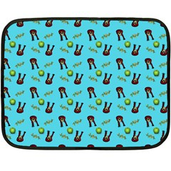 School Girl Pattern Blue Fleece Blanket (mini) by snowwhitegirl