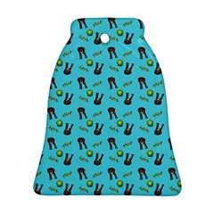 School Girl Pattern Blue Bell Ornament (two Sides) by snowwhitegirl