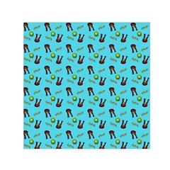 School Girl Pattern Blue Small Satin Scarf (square)