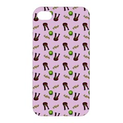 School Girl Pattern Pink Apple Iphone 4/4s Hardshell Case