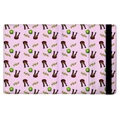 School Girl Pattern Pink Apple Ipad 2 Flip Case