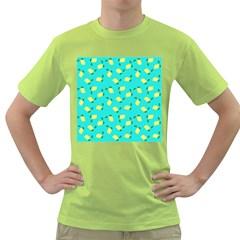 Lemons Blue Green T Shirt