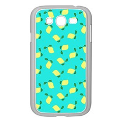 Lemons Blue Samsung Galaxy Grand Duos I9082 Case (white)