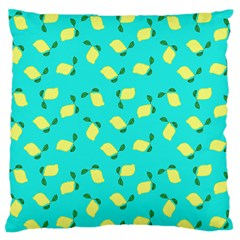 Lemons Blue Large Flano Cushion Case (two Sides)