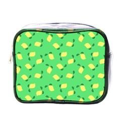 Lemons Green Mini Toiletries Bag (one Side)