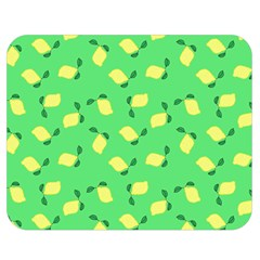 Lemons Green Double Sided Flano Blanket (medium)