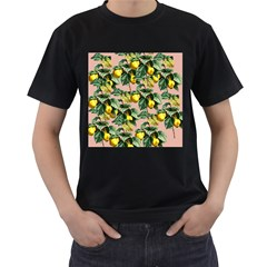 Fruit Branches Men s T Shirt (black) (two Sided)