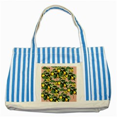 Fruit Branches Striped Blue Tote Bag