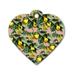 Fruit Branches Dog Tag Heart (one Side)