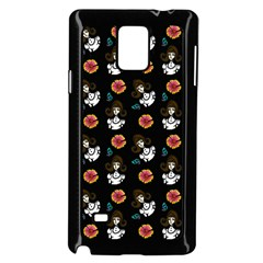 Girl With Dress Black Samsung Galaxy Note 4 Case (black)