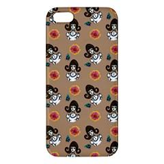 Girl With Dress Beige Apple Iphone 5 Premium Hardshell Case by snowwhitegirl