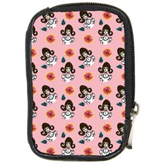 Girl With Dress  Pink Compact Camera Leather Case