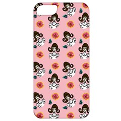 Girl With Dress  Pink Apple Iphone 5 Classic Hardshell Case