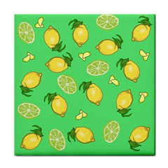 Lemons And Limes Face Towel by snowwhitegirl