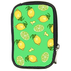 Lemons And Limes Compact Camera Leather Case