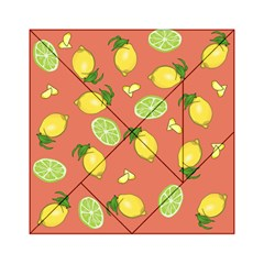 Lemons And Limes Peach Acrylic Tangram Puzzle (6  X 6 )