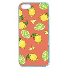 Lemons And Limes Peach Apple Seamless Iphone 5 Case (color)