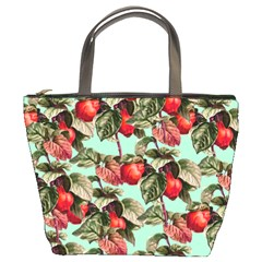 Fruit Branches Green Bucket Bag