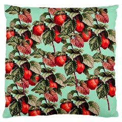 Fruit Branches Green Standard Flano Cushion Case (one Side)