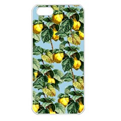 Fruit Branches Blue Apple Iphone 5 Seamless Case (white)