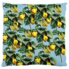 Fruit Branches Blue Large Flano Cushion Case (one Side)