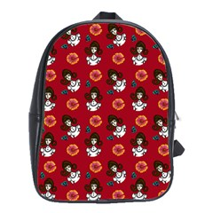 Girl With Dress Red School Bag (large)