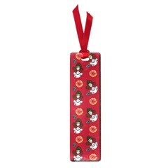Girl With Dress Red Small Book Marks