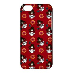 Girl With Dress Red Apple Iphone 5c Hardshell Case