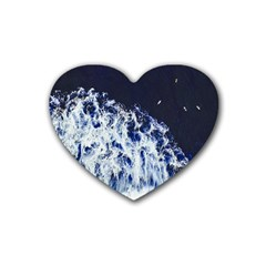 Blue Waves Sea Heart Coaster (4 Pack)