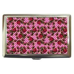 Lazy Cat Floral Pattern Pink Polka Cigarette Money Cases