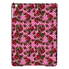Lazy Cat Floral Pattern Pink Polka Ipad Air Hardshell Cases by snowwhitegirl