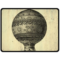 Vintage Air Balloon Double Sided Fleece Blanket (large)