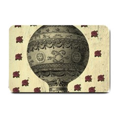 Vintage Air Balloon With Roses Small Doormat
