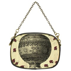 Vintage Air Balloon With Roses Chain Purse (two Sides)