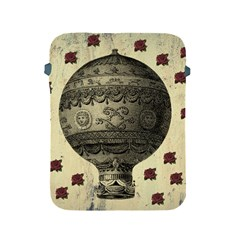 Vintage Air Balloon With Roses Apple Ipad 2/3/4 Protective Soft Cases