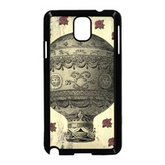 Vintage Air Balloon With Roses Samsung Galaxy Note 3 Neo Hardshell Case (black)