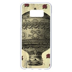 Vintage Air Balloon With Roses Samsung Galaxy S8 Plus White Seamless Case
