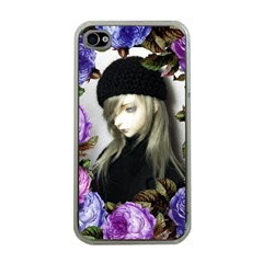 Doll Floral Apple Iphone 4 Case (clear)
