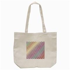 Ombre Zigzag 01 Tote Bag (cream)