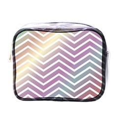 Ombre Zigzag 01 Mini Toiletries Bag (one Side)