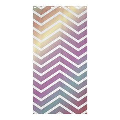 Ombre Zigzag 01 Shower Curtain 36  X 72  (stall)  by snowwhitegirl