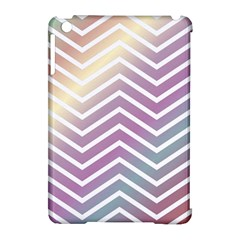 Ombre Zigzag 01 Apple Ipad Mini Hardshell Case (compatible With Smart Cover)