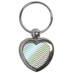 Ombre Zigzag 02 Key Chains (heart)