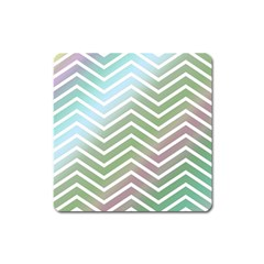 Ombre Zigzag 02 Square Magnet