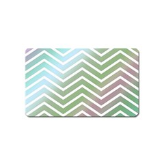 Ombre Zigzag 02 Magnet (name Card)