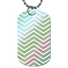 Ombre Zigzag 02 Dog Tag (one Side)