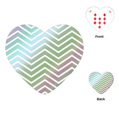 Ombre Zigzag 02 Playing Cards (heart)