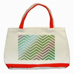 Ombre Zigzag 02 Classic Tote Bag (red)