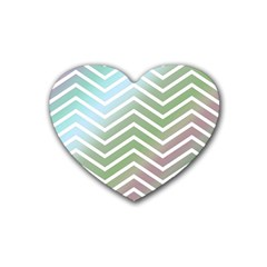 Ombre Zigzag 02 Heart Coaster (4 Pack)